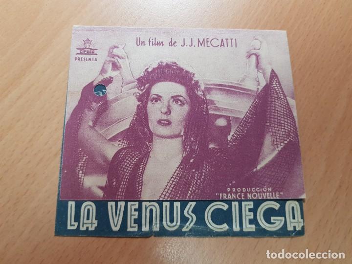 ANTIGUO PROGRAMA DE CINE LA VENUS CIEGA CIFESA (Cine - Folletos de Mano - Clásico Español)