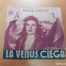 Cine: ANTIGUO PROGRAMA DE CINE LA VENUS CIEGA CIFESA. Lote 207633652