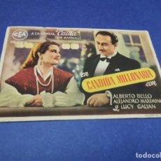 Cine: PROGRAMA DE MANO ORIG - CANDIDA MILLONARIA - CINE DE SANTA POLA 1946. Lote 207635576