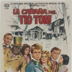 Cine: FOLLETO DE CINE LA CABAÑA DEL TÍO TOM CINE MONTERREY CASTILLEJOS BARCELONA 1966. Lote 207718307