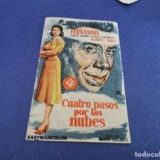 Cine: PROGRAMA DE MANO ORIG - CUATRO PASOS POR LAS NUBES - CINE DE ALGEMESI. Lote 207733058