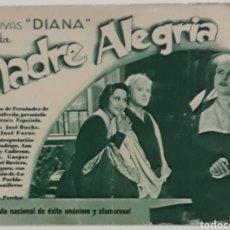 Cine: FOLLETO DE CINE MADRE ALEGRÍA HERMOSILLA BARCELONA. Lote 207736582