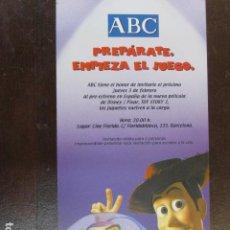 Folhetos de mão de filmes antigos de cinema: TOY STORY 2 - FOLLETO MANO ORIGINAL INVITACION PREESTRENO WALT DISNEY PIXAR. Lote 207763860
