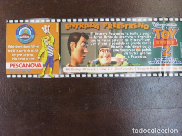TOY STORY 2 - FOLLETO MANO ORIGINAL INVITACION PREESTRENO WALT DISNEY PIXAR PESCANOVA (Cine - Folletos de Mano - Infantil)
