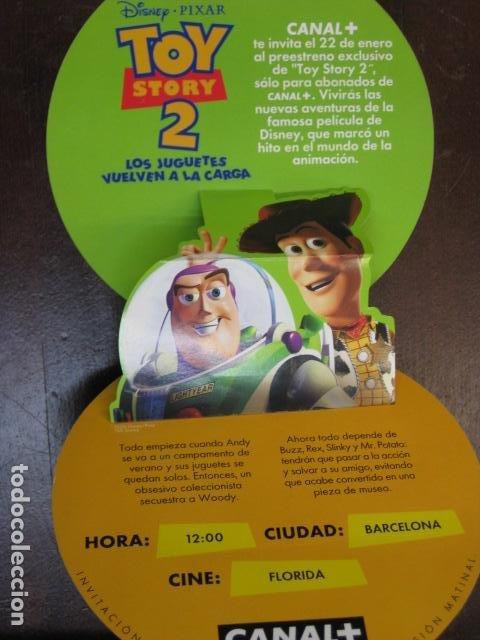 TOY STORY 2 - FOLLETO MANO ORIGINAL TROQUELADO INVITACION PREESTRENO WALT DISNEY PIXAR (Cine - Folletos de Mano - Infantil)