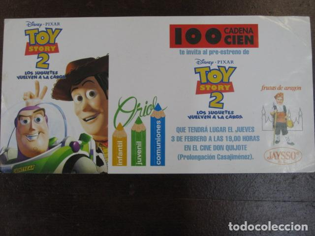 TOY STORY 2 - FOLLETO MANO ORIGINAL INVITACION PREESTRENO WALT DISNEY PIXAR JAYSSO SL (Cine - Folletos de Mano - Infantil)