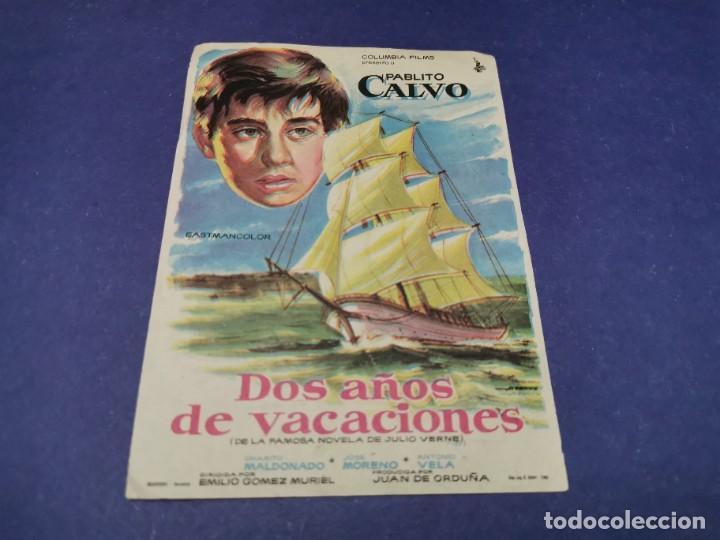 PROGRAMA DE MANO ORIG - DOS AÑOS DE VACACIONES - CINE DE CARMONA (Cine - Folletos de Mano - Clásico Español)