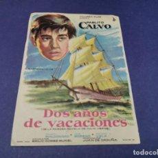 Cine: PROGRAMA DE MANO ORIG - DOS AÑOS DE VACACIONES - CINE DE CARMONA. Lote 207772266
