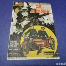 Folhetos de mão de filmes antigos de cinema: PROGRAMA DE MANO ORIG - DOS CONTRA AL CAPONE - CINE DE OLIVA. Lote 207772350