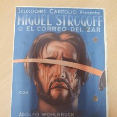 Cine: ANTIGUO PROGRAMA DE CINE MIGUEL STROGOFF SELECCIONES CAPITOLIO. Lote 207810120