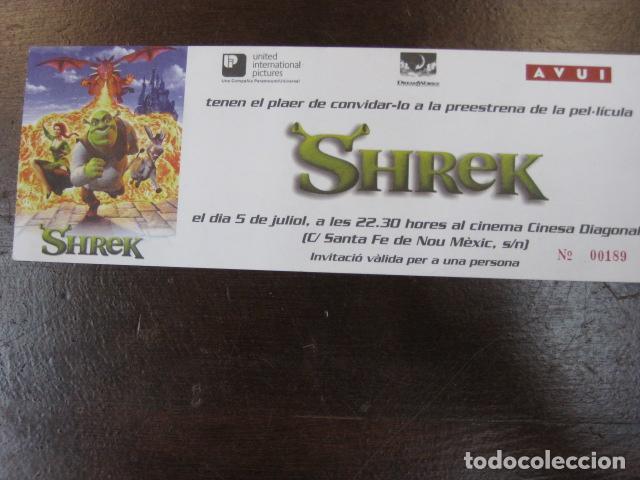 SHRECK - FOLLETO MANO INVITACION PREESTRENO - DREAMWORKS ANIMATION - DIARI AVUI (Cine - Folletos de Mano - Infantil)