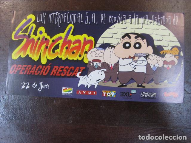 SHINCHAN OPERACIO RESCAT - FOLLETO MANO INVITACION PREESTRENO - DIARI AVUI EN CATALAN (Cine - Folletos de Mano - Infantil)