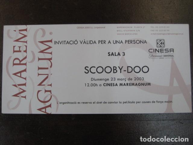 SCOOBY-DOO - FOLLETO MANO INVITACION PREESTRENO CINESA MAREMAGNUM - EN CATALAN (Cine - Folletos de Mano - Infantil)