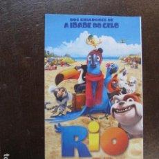 Cine: RIO 3D - FOLLETO MANO INVITACION PREESTRENO PORTUGAL ANIMACION. Lote 207943328