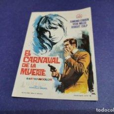 Cine: PROGRAMA DE MANO ORIG - EL CARNAVAL DE LA MUERTE - CINE DE ALICANTE. Lote 207979795