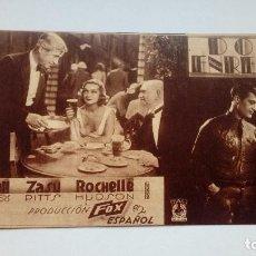 Folhetos de mão de filmes antigos de cinema: FOLLETO DE CINE DON ENREDOS EN CARTON PUBLICIDAD PROYECCIONES. Lote 208002061