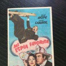 Foglietti di film di film antichi di cinema: MI ESPÍA FAVORITA - PROGRAMA DE CINE BADALONA C/P. Lote 208029126