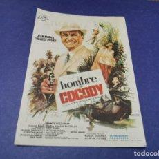 Folhetos de mão de filmes antigos de cinema: PROGRAMA DE MANO ORIG - EL HOMBRE DE COCODY - CINE DE MALAGA. Lote 208036898