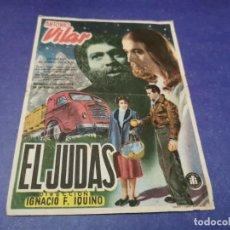 Folhetos de mão de filmes antigos de cinema: PROGRAMA DE MANO ORIG - EL JUDAS - CINE DE BENISA. Lote 208037986