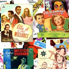 Cine: LOTE DE 50 FOLLETOS PROGRAMAS DE CINE ORIGINALES TODOS DIFERENTES EN PERFECTO ESTADO. Lote 208042863