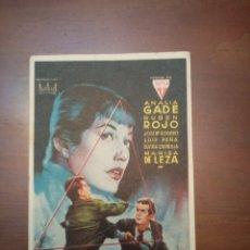 Cine: PROGRAMA DE CINE, LA FRONTERA DEL MIEDO, CON PUBLICIDAD AL DORSO. Lote 208112697