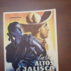 Cine: FOLLETO DE CINE, EN LOS ALTOS DE JALISCO, SIN PUBLICIDAD AL DORSO. Lote 208112781