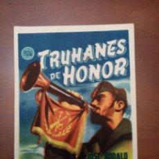 Cine: FOLLETO DE CINE, TRUHANES DE HONOR, CON PUBLICIDAD AL DORSO. Lote 208113452
