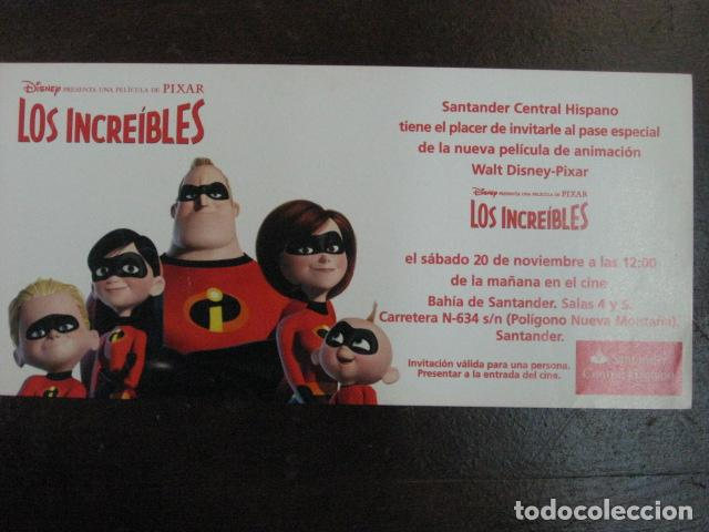 LOS INCREIBLES - FOLLETO MANO ORIGINAL INVITACION PREESTRENO PIXAR WALT DISNEY MORGAN STANLEY (Cine - Folletos de Mano - Infantil)