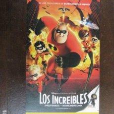 Cine: LOS INCREIBLES - FOLLETO MANO ORIGINAL INVITACION PREESTRENO COLISEUM PIXAR WALT DISNEY. Lote 208133687