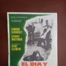 Cine: FOLLETOS DE CINE, EL DÍA Y LA HORA, CON PUBLICIDAD AL DORSO. Lote 208139610