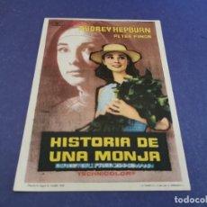 Foglietti di film di film antichi di cinema: PROGRAMA DE MANO ORIG - HISTORIA DE UNA MONJA- CINE DE LÉRIDA. Lote 208162433