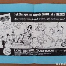 Cine: PROGRAMA DE MANO LOS SERES QUERIDOS CINE ARCADIA BARCELONA TONY RICHARSON. Lote 208170540