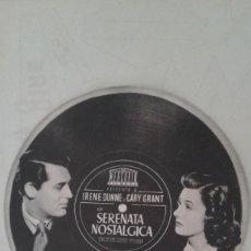 Cine: TROQUELADO SERENATA NOSTALGICA MERCURIO IRENE DUNNE- CARY GRANT SP.. Lote 208178291