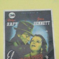 Cine: EL GANGSTER Y LA BAILARINA GEORGE RAFT JOAN BENNETT CON SELLO DEL CINE ALGUN DEFECTO. Lote 208185353