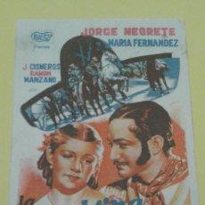 Cine: LA MADRINA DEL DIABLO JORGE NEGRETE MARIA FERNANDEZ CON PUBLICIDAD. Lote 208187906