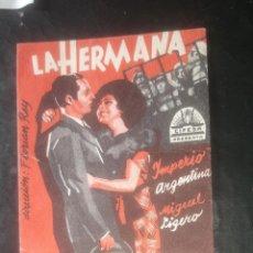 Cine: FOLLETO DE MANO LA HERMANA SAN SULPICIO CON IMPERIO ARGENTINA PUBLICIDAD TEATRO MUNICIPAL ALMAGRO. Lote 208191321