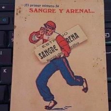 Cine: SANGRE Y ARENA - AÑO 1922 - PROGRAMA DE MANO TROQUELADO. Lote 208352740