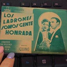 Cine: PROGRAMA DE MANO ORIGINAL DOBLE - LOS LADRONES SOMOS GENTE HONRADA COLOR VERDE - CON PUBLICIDAD CINE. Lote 208356451