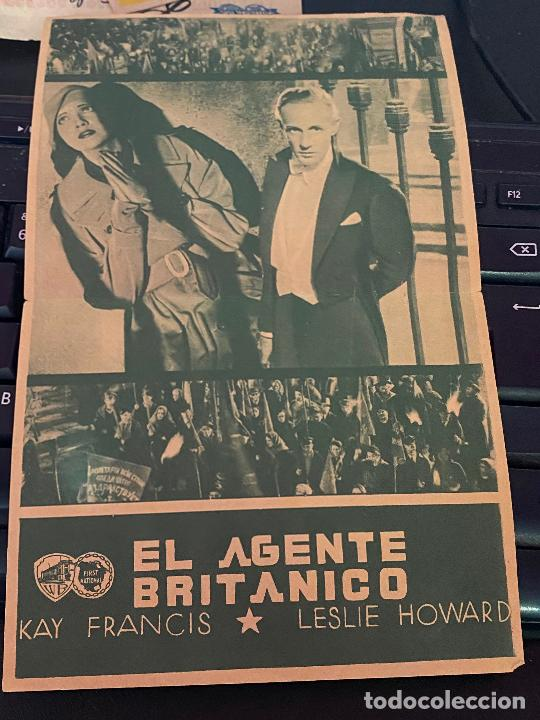 Cine: AGENTE BRITANICO PROGRAMA DOBLE WARNER LESLIE HOWARD KAY FRANCIS - Foto 2 - 208362601