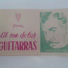Cine: AL SON DE LAS GUITARRAS FERNANDO SOLER PEDRO INFANTE DOBLE SIN PUBLICIDAD. Lote 208303732