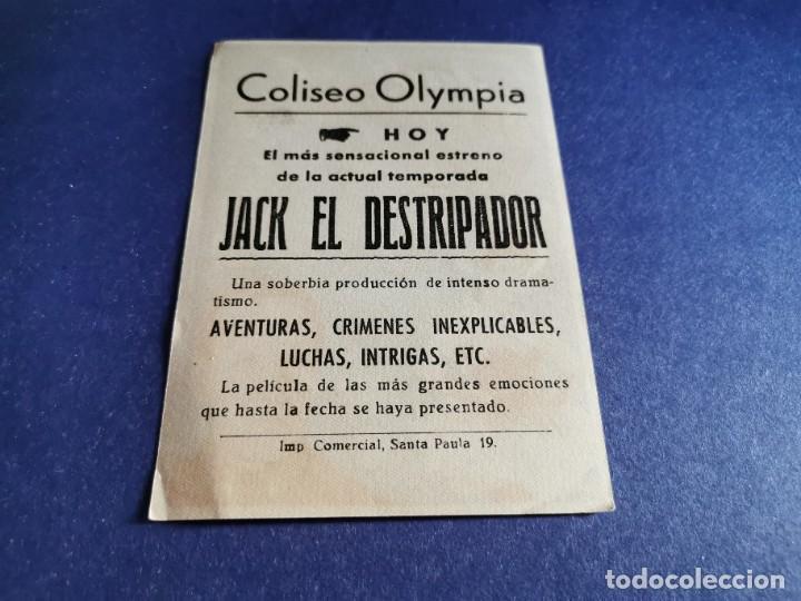 Cine: PROGRAMA DE MANO ORIG - JACK EL DESTRIPADOR - CINE COLISEO OLYMPIA - Foto 2 - 208414366