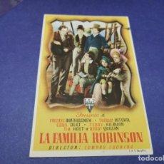 Cine: PROGRAMA DE MANO ORIG - LA FAMILIA ROBINSON - CINE DE RONDA. Lote 208415848
