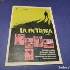 Cine: PROGRAMA DE MANO ORIG - LA INTRIGA - CINE DE YECLA. Lote 208416978