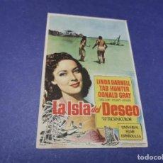 Cine: PROGRAMA DE MANO ORIG - LA ISLA DEL DESEO - CINE DE TORRE PACHECO, MURCIA. Lote 208417063