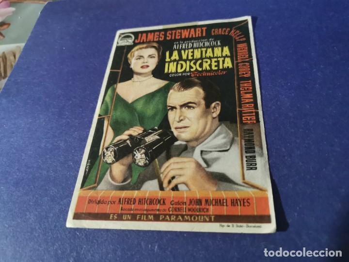 PROGRAMA DE MANO ORIG - LA VENTANA INDISCRETA - CINE DE ZARAGOZA (Cine - Folletos de Mano - Suspense)
