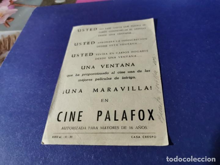 Cine: PROGRAMA DE MANO ORIG - LA VENTANA INDISCRETA - CINE DE ZARAGOZA - Foto 2 - 208599270
