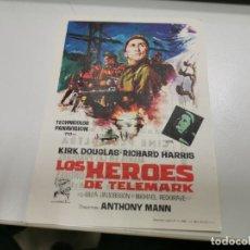 Cine: PROGRAMA DE MANO ORIG - LOS HEROES DE TELEMARK- CINE DE MALAGA. Lote 208667445