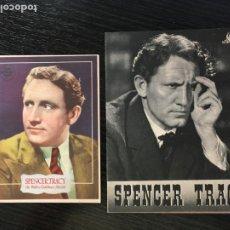 Flyers Publicitaires de films Anciens: EDISON, EL HOMBRE - SPENCER TRACY MGM - LOTE DE 2 PROGRAMAS DE CINE DISTINTOS (1 DOBLE + 1 SENCILLO). Lote 208778225