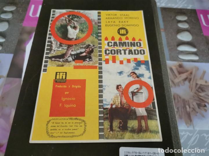 PROGRAMA DE MANO ORIG - CAMINO CORTADO - CINE DE ZARAGOZA (Cine - Folletos de Mano - Clásico Español)
