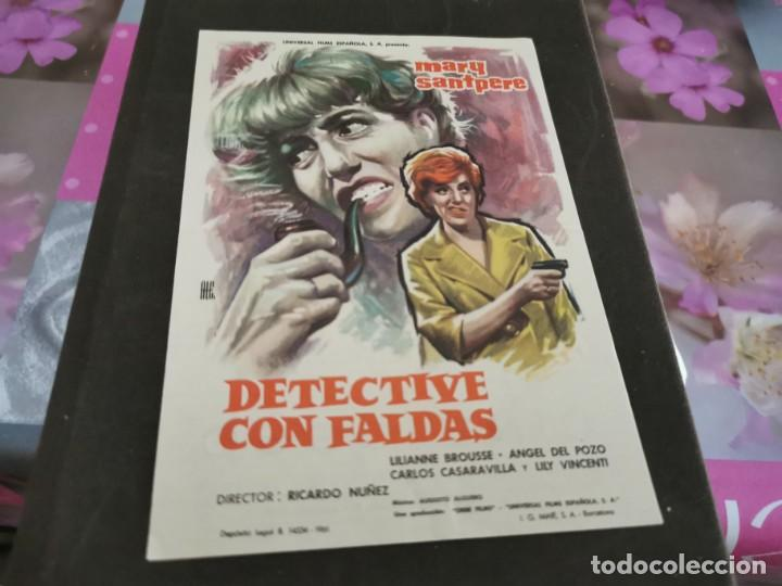 PROGRAMA DE MANO ORIG - DETECTIVE CON FALDAS- CINE DE ZARAGOZA (Cine - Folletos de Mano - Clásico Español)